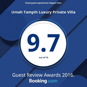 Booking.com Guest Review Award 2016 - Villa Umah Tampih 9.7